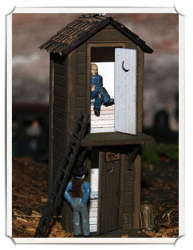 Graham Hoffman 2 story outhouse